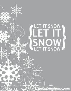 free let it snow printable
