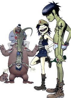 Art by Jamie Hewlett* (http://userserve-ak.last.fm/serve/500/22886645/Gorillaz+teddybear.jpg) ★ || CHARACTER DESIGN REFERENCES | マンガの描き方 • Find more artworks at https://www.facebook.com/CharacterDesignReferences  http://www.pinterest.com/characterdesigh and learn how to draw: #concept #art #animation #anime #comics || ★