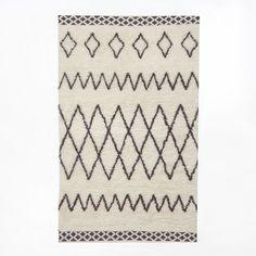 Kasbah Wool Rug - Ivory | west elm $499 5x8
