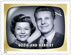 Ozzie and Harriet US Postage Stamp
