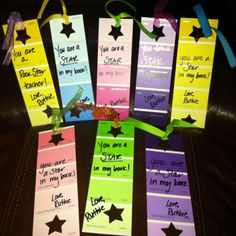 """You are a star in my book"" Valentines Day bookmarks."