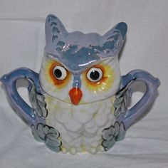 Owl Sugar Bowl from Daisy Antiques on Ruby Lane