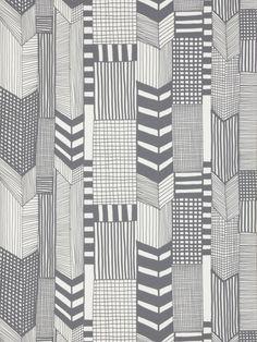 Marimekko Ruutukaava Wallpaper Grey 14122