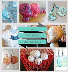 DIY Decoupage crafts