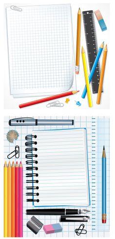 Text color pencils vector graphics