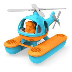 Green Toys floating seacopter: Made of recycled plastic milk jugs.