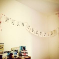 Make an easy garland for your reading corner with old book pages.