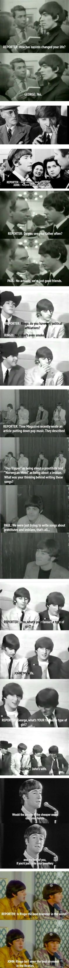 The Beatles were the masters of sass.