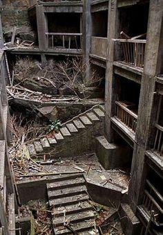 abandoned. ghost island (hashima), japan.
