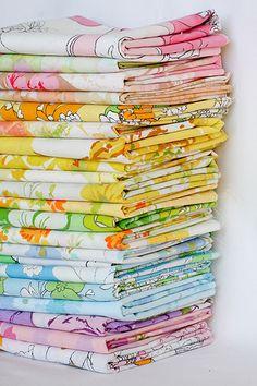 Vintage sheets.