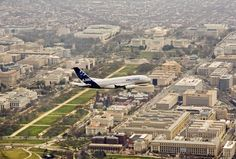 "On March 26, 2007, the new Airbus A380 flew over Washington, DC during one of its ""route-proving"" missions."
