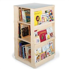 4-Sided Library Book Shelf