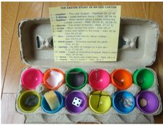 Resurrection Eggs - The True Meaning of Easter!  Great reading/learning activity.