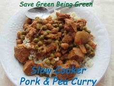 Slow Cooker Saturday: Pork and Pea Curry #slowcooker #crockpot #recipe #cleaneating #eatclean