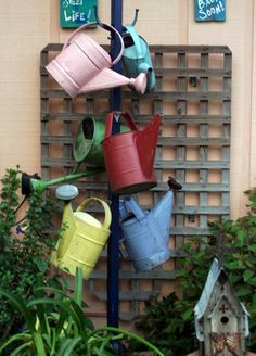 Garden Whimsies by Mary-A most charming collection of watering cans