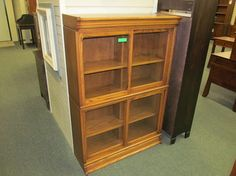 Sliding Door Bookcase - eclectic - bookcases cabinets and computer armoires - columbus - Geitgey's Amish Country Furnishings