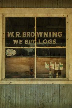 W. R. Browning's Store  Glenwood, Wheeler County GA
