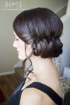 Rolled updo   we ❤ this!  moncheribridals.com  #weddingupdo