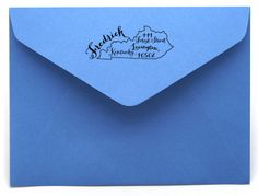 Personalized State Return Address Stamp on BourbonandBoots.com #kentucky
