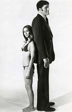 "Barbara Bach and Richard Kiel, ""The Spy Who Loved Me"", (1977)"