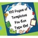 100 FREE editable Lapbook Templates!