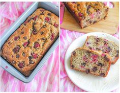 Dark Chocolate Raspberry Banana Bread