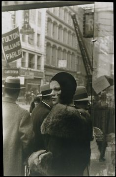 Girl in Fulton Street, New York, 1929, photo by Walker Evans
