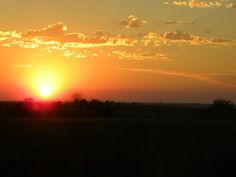Sunset over the cattle ranches of Texas