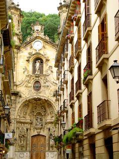 Streets of San Sebastian, Spain Let's go back