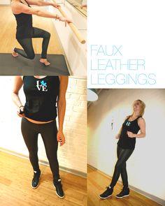 Lithe Wear Faux Leather Leggings