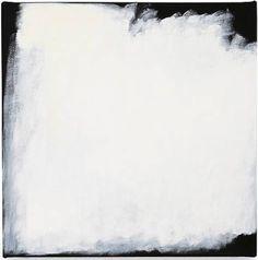 Robert Ryman  Note to self: fog, field, valley