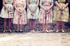 vintage floral bridesmaid dresses