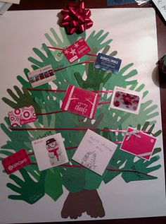 """A simple gift for the teacher (like this idea, but maybe just put one or two gift cards under the tree as """"wrapped"""" presents)"""