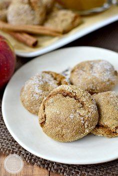 Soft Batch Apple Cider Gingersnap Cookies #glutenfree | iowagirleats.com