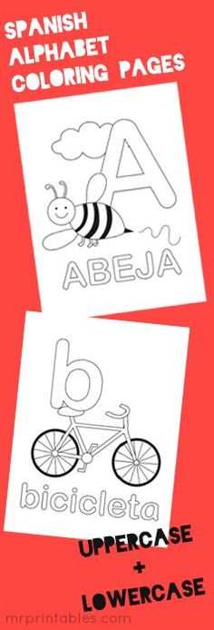 Alphabet Coloring Pages | En español