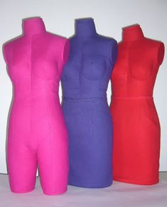 "Ladies Size 12 Half Scale Dressform - by Jane Elson - £105.00. Hand made in quality cotton fabric. The ladies dummy is 18""/ 46cm high, it measures half a standard UK size 12:-  Bust 43.5cm/34"",  Waist 33cm/26"", Hips 46cm/36"". This is a very versatile form, having legs beneath the overskirt. The form is firm but soft, and is especially useful for creating any style which requires tight corseting such as may be required for evening wear or theatre costume, when it can be squeezed in a little."