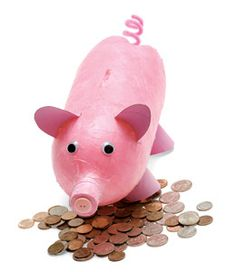 A piggy bank made out of a 2 liter bottle