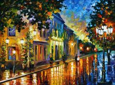 ON THE WAY TO THE MORNING BY Leonid Afremov via deviantart