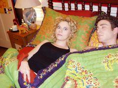 Hilarie Burton and Bryan Greenberg on set