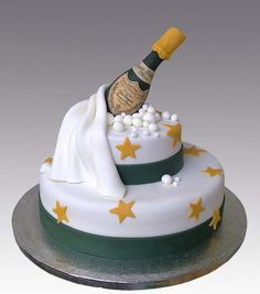 Pretty New Year's cake