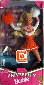 University Clemson Barbie Cheerleader Doll! « Game Searches http://gamesearches.com/university-clemson-barbie-cheerleader-doll/