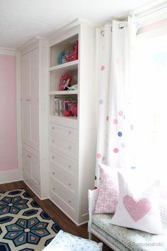 builtin closet, curtain