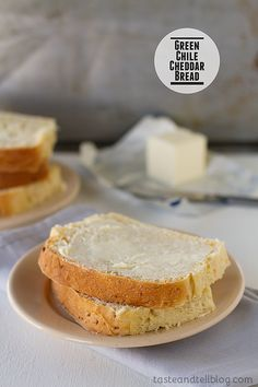 Green Chile Cheddar Bread | www.tasteandtellblog.com