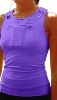 Workout tank with pocket for MP3 player