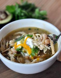 Slow Cooker White Bean Chicken Chili-such a good recipe!