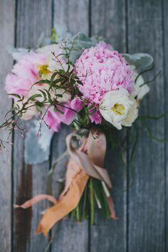 peony bouquet, photo by Rad + In Love http://ruffledblog.com/kona-kai-resort-wedding #weddingbouquet #flowers