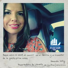 """Reason 87 #ItCanWait: """"Porque valoro mi salud, el convivir con mi familiar y el bienestar de la gente que me rodea."""" (Because I appreciate being healthy, spending time with my family, and the wellbeing of everyone around me.) Take the pledge to never text and drive again at itcanwait.com"""