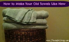 how to clean old towels