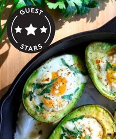 Eggs in avocado and