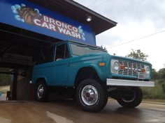Can't drive by this car wash in an early bronco without getting a wash and a photo!